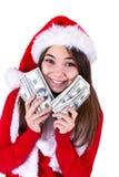 Santa trará mais dinheiro Foto de Stock