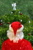 Santa and tree Stock Image