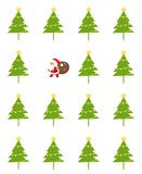 Santa and tree Stock Images