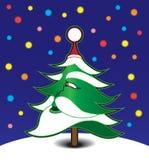 Santa Tree Lizenzfreie Stockfotos