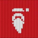Santa tricotée Images libres de droits