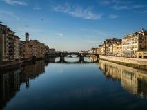 Santa Trinita-Brücke, Florenz, Italien Stockbilder