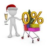 Santa and trolley Royalty Free Stock Photo