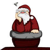 Santa in trouble Royalty Free Stock Photography