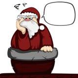 Santa in trouble Royalty Free Stock Photos