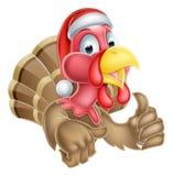 Santa Turkey Stock Photography