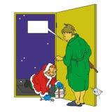 Santa ubriaca illustrazione vettoriale