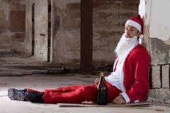Santa ubriaca Fotografia Stock Libera da Diritti