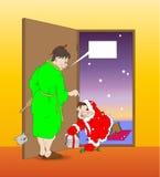 Santa ubriaca illustrazione di stock