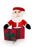 Santa in una casella immagine stock