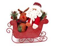 Santa in una slitta Fotografia Stock Libera da Diritti