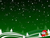Santa under snowy sky Royalty Free Stock Image