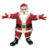 Santa Unsure Royalty Free Stock Photography