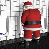 Santa Using Urinal Royalty Free Stock Photos