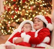 Santa van de baby royalty-vrije stock afbeeldingen