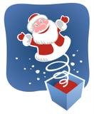 Santa van het stuk speelgoed stock illustratie