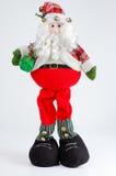 Santa van Kerstmis op witte achtergrond Royalty-vrije Stock Foto's