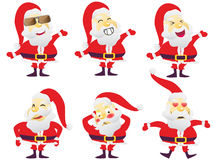 Santa in various characters Royalty Free Stock Photography