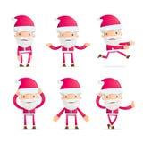 Santa in various poses Royalty Free Stock Photo