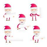 Santa in various poses Royalty Free Stock Photos