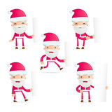 Santa in various poses Stock Photography
