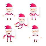 Santa in various poses Royalty Free Stock Images
