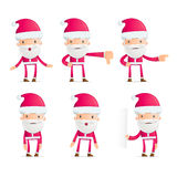 Santa in various poses Royalty Free Stock Image