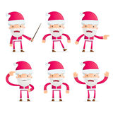 Santa in various poses Royalty Free Stock Photography