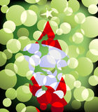Santa, vector. Abstract background with circles and Santa Royalty Free Stock Image