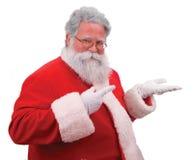 Santa vende il vostro prodotto fotografia stock