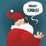 Santa vi augura il Buon Natale Fotografia Stock