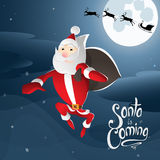 Santa vient illustration libre de droits