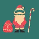 Santa vient Descripteur d'affiche Images stock