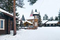 Santa Village Lapland Finland lizenzfreies stockbild