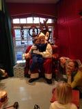 Santa visit Stock Photography