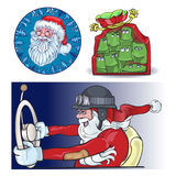 Santa Vraznykh types, hurry to you. Stock Photography