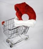 Santa wózka na zakupy Zdjęcia Royalty Free