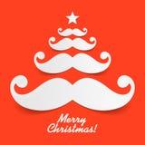 Santa wąsy choinka Fotografia Royalty Free