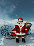Santa wait Royalty Free Stock Image