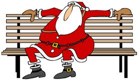 Santa waiting for Christmas Stock Images