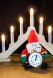 Santa waits for christmas Royalty Free Stock Photo