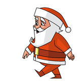 Santa walking Royalty Free Stock Photography