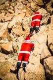 Santa on a wall royalty free stock photos