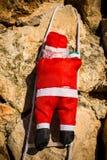 Santa on a wall royalty free stock photography
