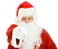 Santa Wants You. Santa Claus pointing at you.  Isolated on white Stock Photo