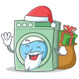 Santa washing machine character cartoon Royalty Free Stock Photography