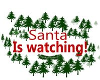 Santa is watching. Rubber stamps with text Santa is watching inside,  illustration Royalty Free Stock Photo