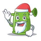 Santa watering can character cartoon Stock Image