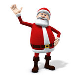 Santa waving. 3d rendering/illustration of a cartoon santa waving friendly Royalty Free Stock Image