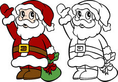 Santa Waving Stock Photo